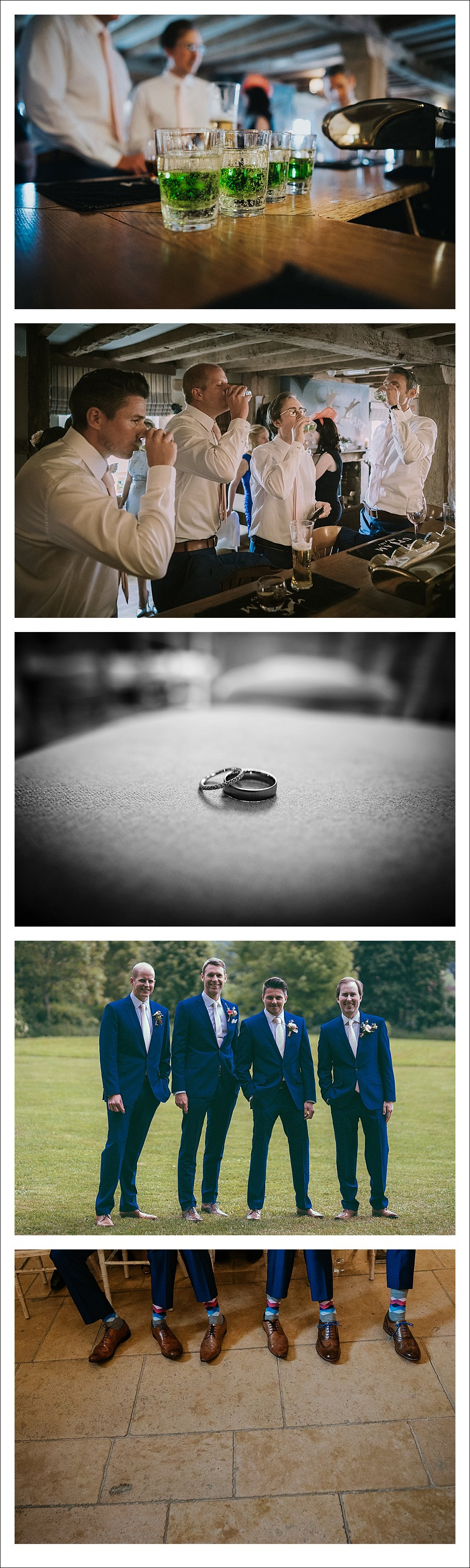 Chris Deller Photography Grooms Suits Tithe Barn Wedding