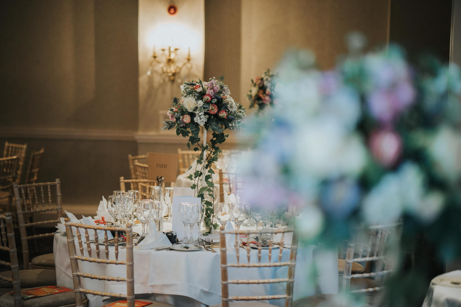 Chilston Park Hotel wedding floral pieces