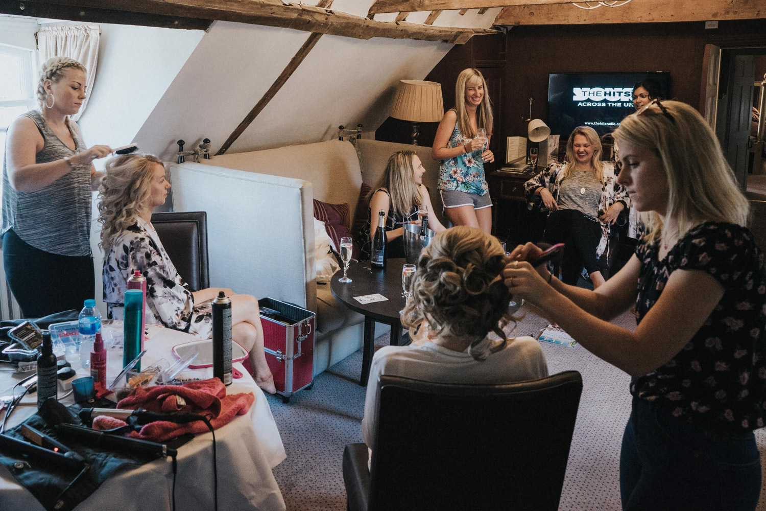 Bridal preparation at Chilston park Hotel