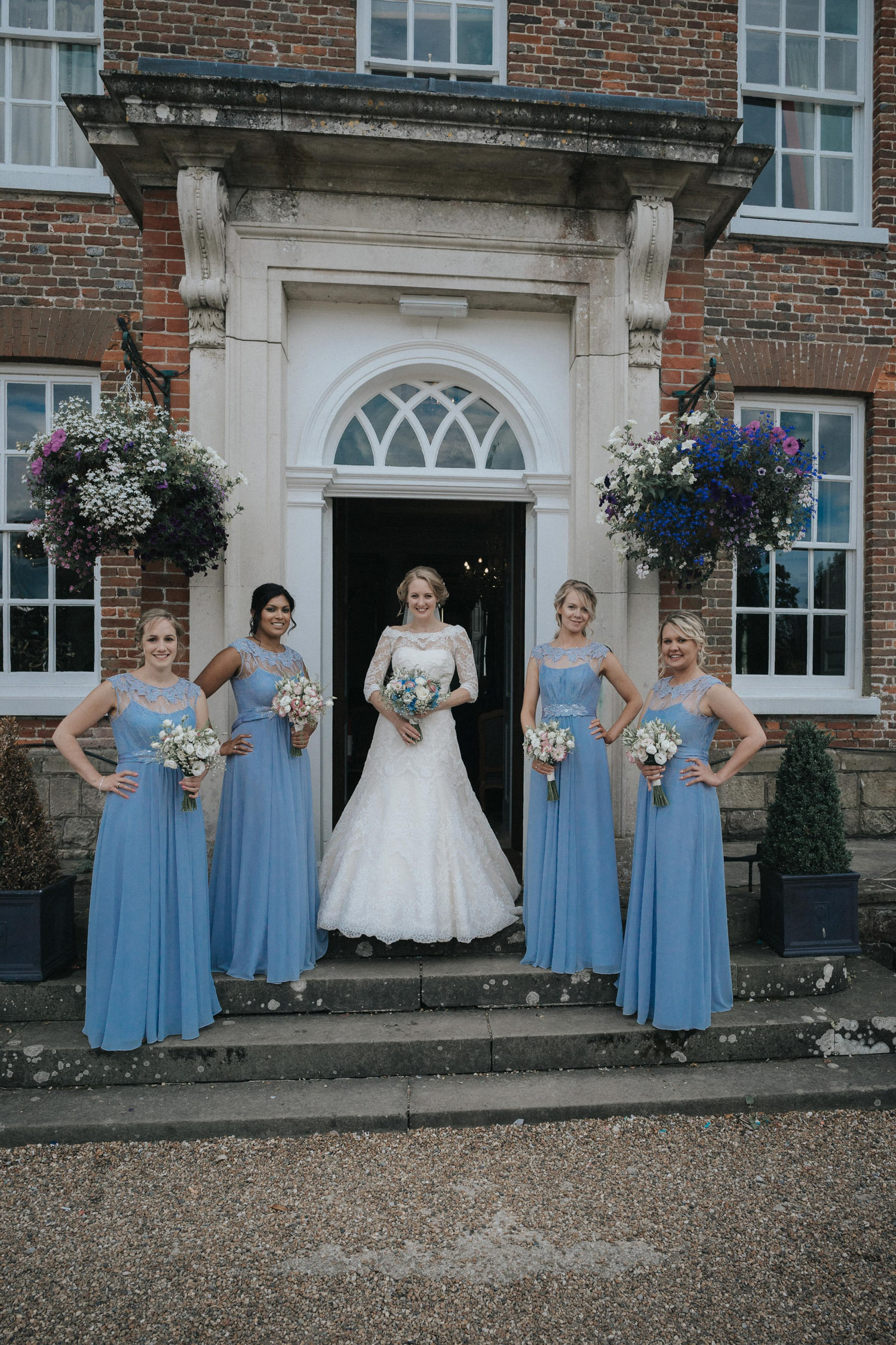 Wedding Group shots at Chilston Park Hotel