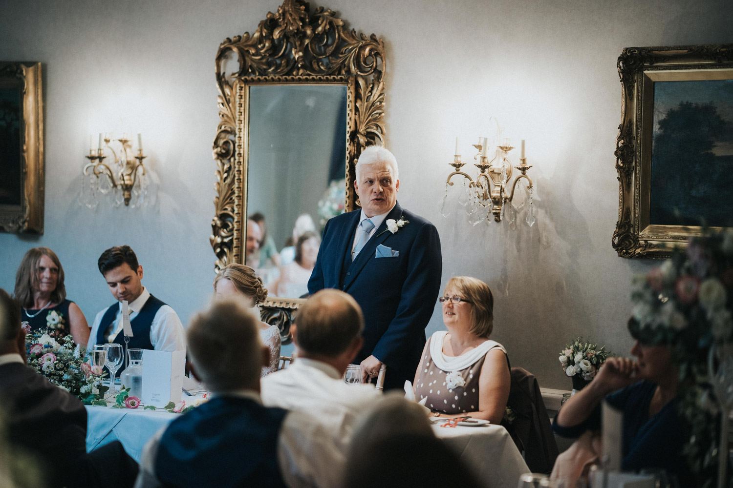 Wedding Breakfast at Chilston Park Hotel