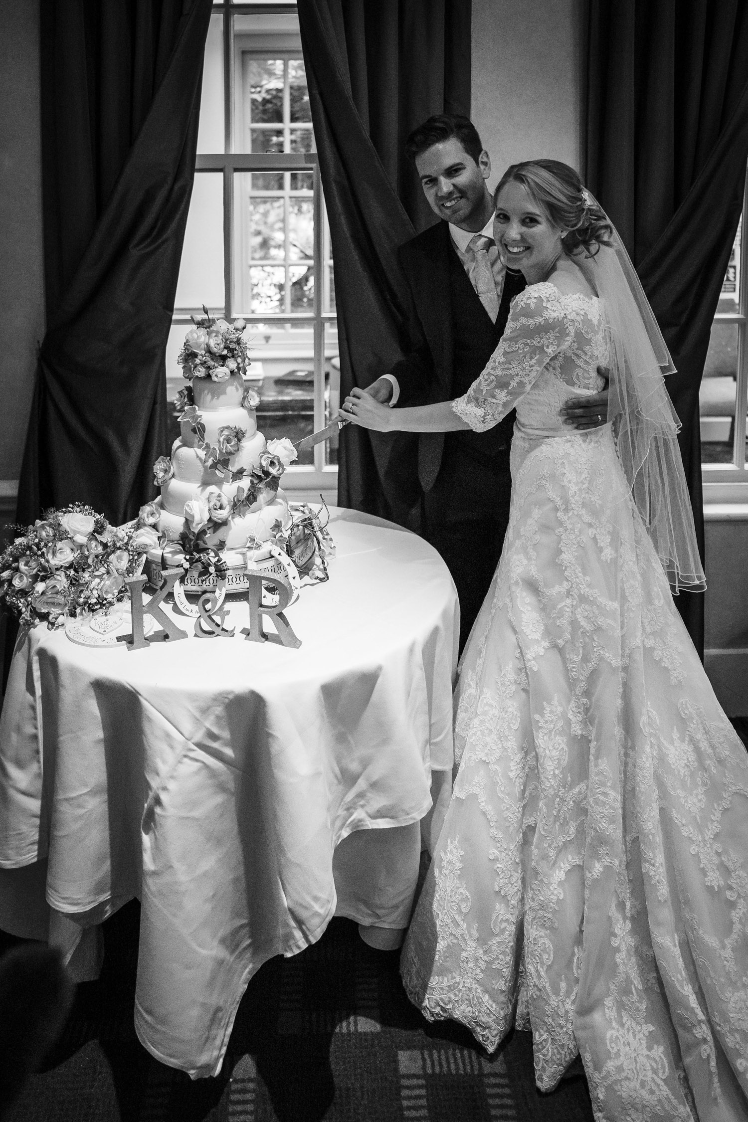 Cake cutting at Chilston Park Hotel