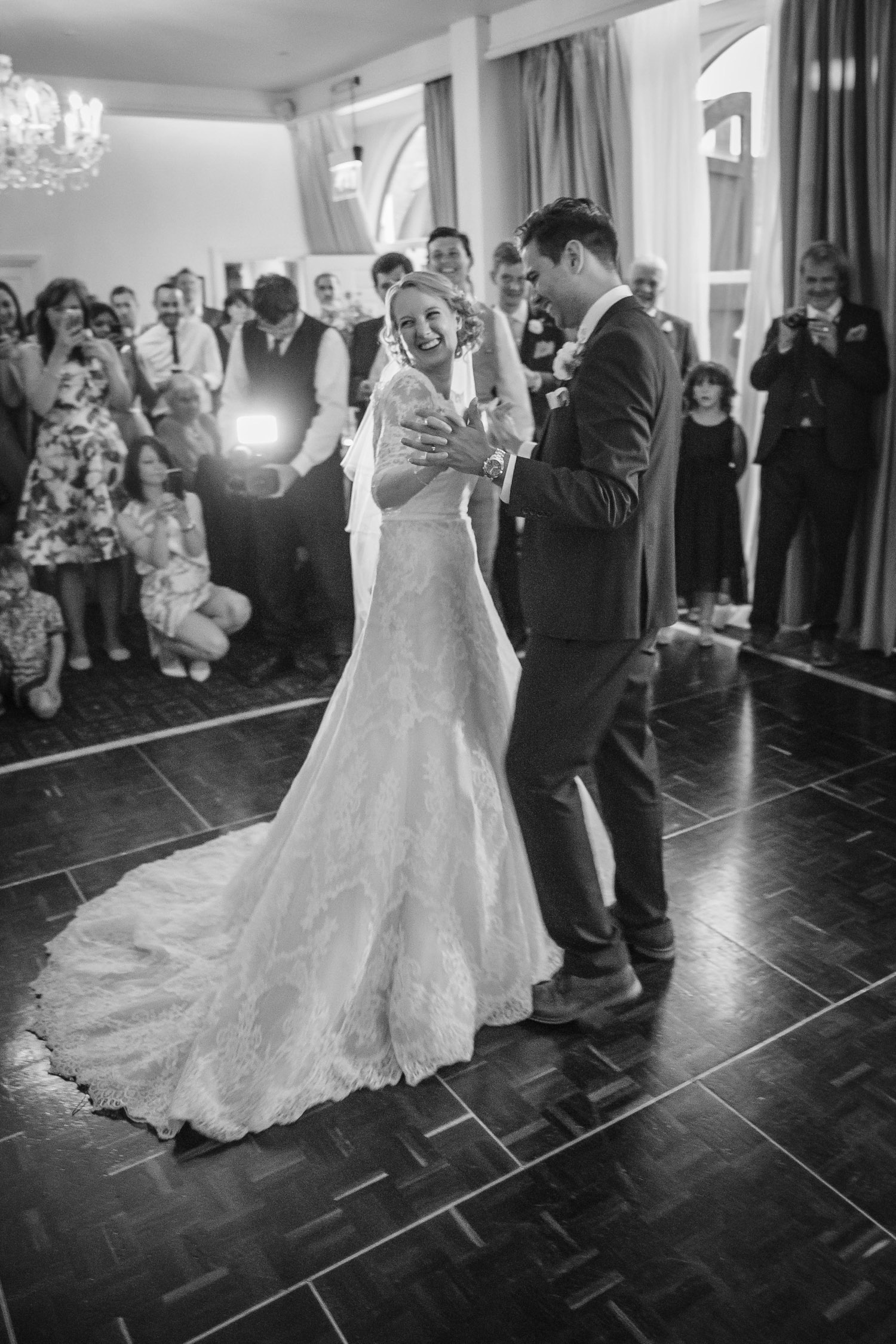 First dance at Chilston Park Wedding