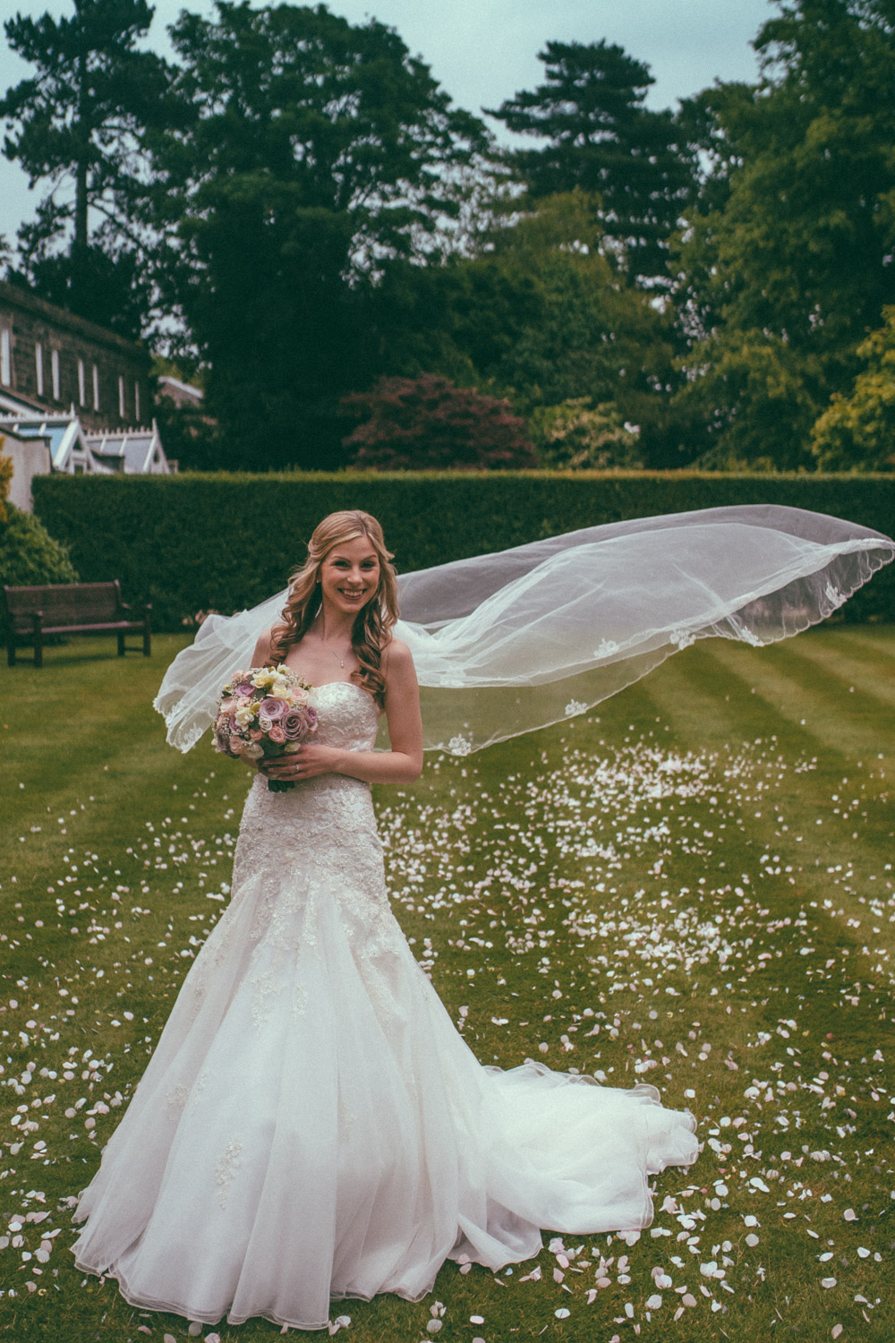 Wedding Day Bridal Portrait by Chris Deller Photography